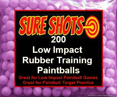 200 50 Caliber Rubber Training Paintballs