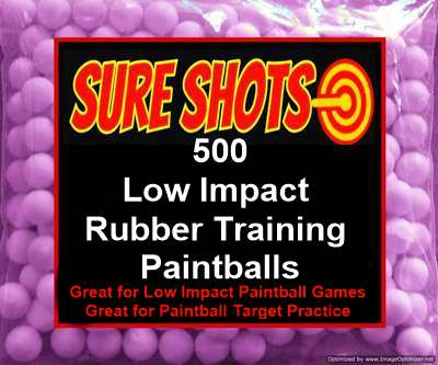 500 50 Caliber Rubber Training Paintballs