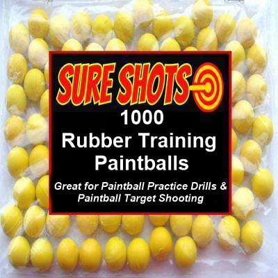 68 Caliber Rubber Training Paintballs 1000 Pack