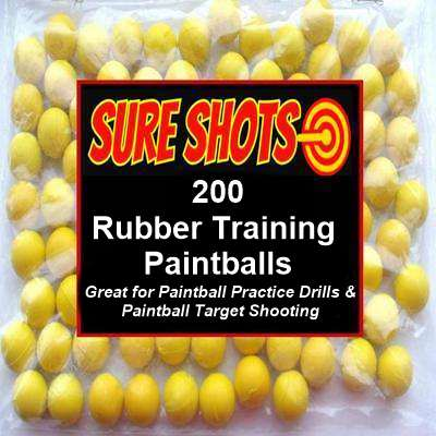 200 Rubber Training Paintballs 68 Cal