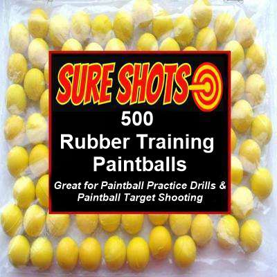 500 Rubber Training Paintballs