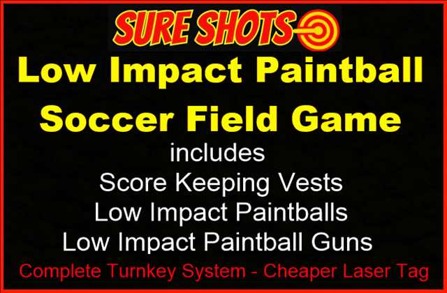 Low Impact Paintball Soccer Game