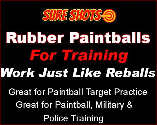 Rubber Training Painballs